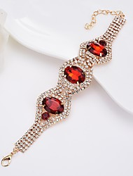 preiswerte -Damen Kristall Strass Krystall Armreife - Elegant Simple Style Oval Weiß Schwarz Dunkelblau Rot Armbänder Für Normal Formal