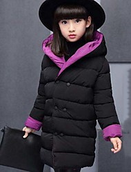 Girls' Solid Down & Cotton Padded,Cotton Polyester Winter Long Sleeve