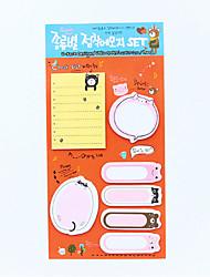 1 PC Multi-function Combination Sticky Note Set(Random Color)