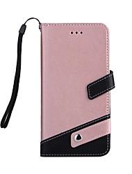 economico -Per iPhone 7 iPhone 7 Plus Custodie cover A portafoglio Porta-carte di credito Resistente agli urti Con supporto Integrale Custodia Tinta