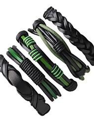 Homme Bracelets Bracelets en cuir Pierre Fait à la main Cuir Forme Ronde Bijoux Pour Plein Air Sortie