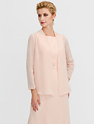 cheap -Long Sleeves Chiffon Wedding Party / Evening Women's Wrap Coats / Jackets
