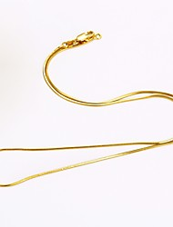 cheap -Men's Women's Snake Gold Plated Chain Necklace  -  DIY Simple Style Round Gold Necklace For Daily Casual