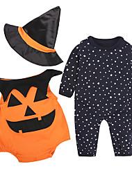 Baby Kids' Halloween Festival Print Clothing Set,Cartoon All Seasons