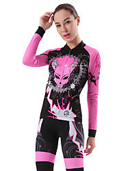 Cycling Jersey with Tights Women's Long Sleeves Bike Clothing Suits Quick Dry Windproof 3D Pad Stretchy Breathability Fashion Autumn/Fall
