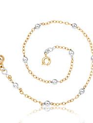 baratos -Mulheres Tornezeleira / Pulseiras Rosa Folheado a Ouro Personalizada Fashion Redonda Bola Jóias Para Praia Encontro