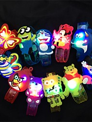 cheap -1Pcs  Cartoon Animal Led Flash Emitting Bracelet Children  Kids Bracelet Wrist Band Birthday Gift Party Decoration Design Is Random