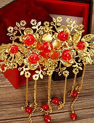 Imitation Pearl Alloy Hair Combs Flowers Hair Clip Headpiece