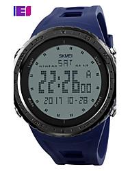 Недорогие -SKMEI Муж. Спортивные часы электронные часы Цифровой Повседневные часы PU Группа Цифровой Кулоны Черный / Синий / Зеленый - Серый Зеленый Синий Два года Срок службы батареи / Maxell CR2025