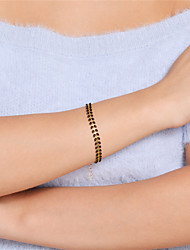 cheap -Women's Chain Bracelet Bracelet Elegant Simple Style Alloy Geometric Jewelry Daily Going out Costume Jewelry Black Red Green