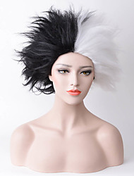 cheap -Synthetic Wig Straight Natural Hairline White Black Women's Capless Carnival Wig Halloween Wig Party Wig Cosplay Wig Medium Synthetic Hair