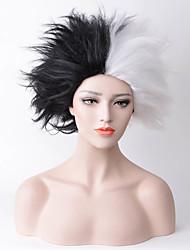 abordables -Pelucas sintéticas Recto Pelo sintético Entradas Naturales Negro / Blanco Peluca Mujer Media Sin Tapa