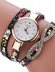 abordables -Mujer Cuarzo Reloj creativo único Reloj Pulsera Reloj de Moda Chino Gran venta PU Banda Encanto Vintage Casual Elegant Negro Azul Rojo