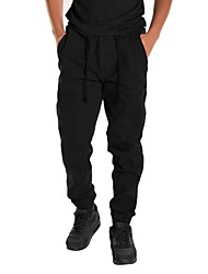 cheap -Men's Running Pants Breathable Comfortable Pants / Trousers Running/Jogging Casual Exercise & Fitness Cotton Slim Black Mineral Green
