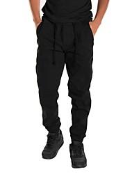 economico -Per uomo Pantaloni da corsa Traspirante Comodo Pantalone/Sovrapantaloni Corsa Casual Esercizi di fitness Cotone Taglia piccola Nero Verde