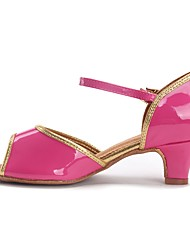 cheap -Latin Shoes TPU / Patent Leather / Leatherette Sandal / Heel Buckle Chunky Heel Customizable Dance Shoes Pink / Practice