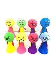 cheap -Coiled Spring Toy Suction Cup Figure Toys Novelty Cute Lovely EVA Plush Teen 3 Pieces