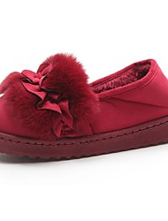 Women's Shoes Rubber Winter Comfort Boots Flat Heel Round Toe For Outdoor Red Gray Black
