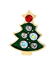 Men's Women's Brooches Imitation Diamond Fashion Chrismas Alloy Tree of Life Jewelry For Graduation Christmas