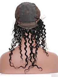 Недорогие -предварительно выщипывал 360 кружевных лобовых с крышкой парика горячие малайзийские виргинские волосы глубокая волна естественная линия