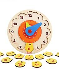 Недорогие -Конструкторы Пазлы Деревянные пазлы Обучающая игрушка Часы Своими руками Мальчики Игрушки Подарок