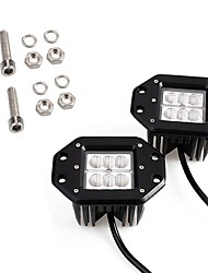 cheap -2PCS Mini Design 4 Inches 18W 1800LM 6000K LED Work Light Original Lighting Pattern Fitted for Motorcycle Truck 4X4 Off-road SUV ATV Vehicle