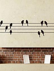 Animali Romanticismo Moda Adesivi murali Adesivi aereo da parete Adesivi decorativi da parete Materiale Decorazioni per la casa Sticker