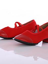 preiswerte -Damen Modern Leinwand Sneaker Draussen Maßgefertigter Absatz Rot Maßfertigung