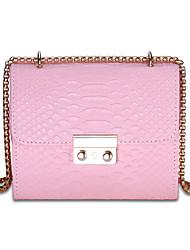 economico -Donna Sacchetti PU (Poliuretano) Borsa a tracolla per Shopping Casual Per tutte le stagioni Bianco Nero Rosa Grigio