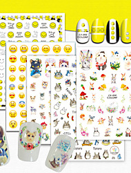 1 Nail Art Sticker  Pattern 3D Nail Stickers Cartoon 3-D Sticker DIY Supplies Makeup Cosmetic Nail Art Design