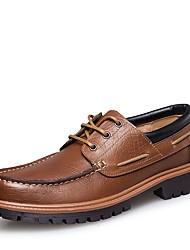 Недорогие -Для мужчин обувь Натуральная кожа Наппа Leather Кожа Осень Зима Удобная обувь Формальная обувь Обувь для дайвинга Топ-сайдеры Шнуровка