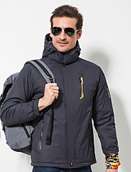 Men's Hiking Down Jacket Windproof Wearable Stretchy Single Slider Fleece Jacket Top for Recreational Cycling Hiking Outdoor Autumn/Fall