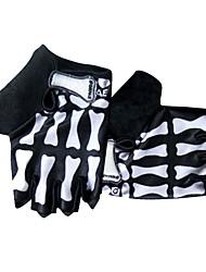Недорогие -Спортивные перчатки Перчатки для велосипедистов Нескользящий / Защитный / Впитывает пот и влагу Без пальцев Ткань / Лайкра спандекс Велосипедный спорт / Велоспорт Универсальные