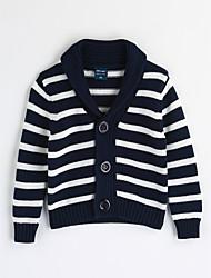 cheap -Boys' Stripe Blouse,Cotton Fall Long Sleeve Stripes Blue White