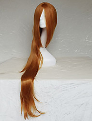 Women Synthetic Wig Capless Long Natural Wave Light Brown With Bangs Party Wig Halloween Wig Natural Wigs Costume Wig