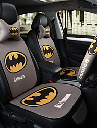 cheap -Batman Car Seat Cushion Seat Cover Seat Four Seasons General Surrounded By A Five Seat Headrest With 2 Wheel Sets