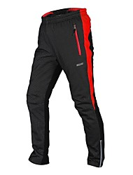 ARSUXEO Men's 2017 Winter Warm Up Thermal Fleece Cycling Pants MTB Bike Bicycle Pant Windproof