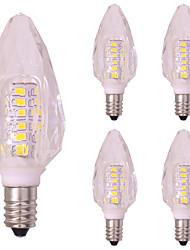preiswerte -5 Stück 3W 260lm E14 LED Kerzen-Glühbirnen T 40 LED-Perlen SMD 2835 Warmes Weiß Kühles Weiß 220-240V