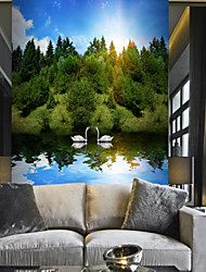 Nature & Landscapes Tree Wallpaper For Home Modern Pastoral Style Wall Covering  Canvas Material Adhesive required Mural  Room