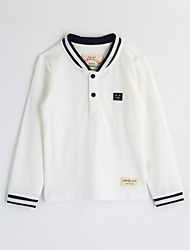 cheap -Boys' Solid Blouse,Cotton Fall Long Sleeve White