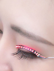 LED Lights False Eyelashes, Glowing Eyes, LED Eyelash Lights, Double Gypsum, False Eyelash Lights (Sound Control)