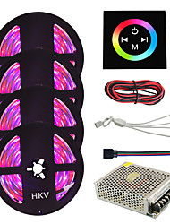1Set HKV® 20M(4x5m) 1200LED IP65 3528SMD RGB Waterproof LED Strip Lighting Tape With Type Touch Screen Wall Controller