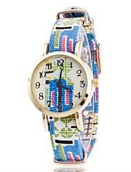 Per donna Orologio da polso Creativo unico orologio Cinese Quarzo Tessuto Banda Stile Boho Ciondolo Casual classe Blu Grigio Rosa Viola