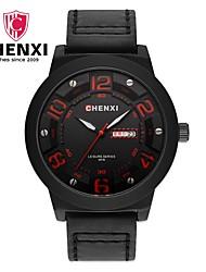 Недорогие -Муж. Нарядные часы Модные часы Китайский Кварцевый Календарь Кожа Группа Кулоны Роскошь На каждый день Cool Черный