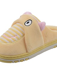 Girls' Shoes Velvet Winter Fur Lining Fluff Lining Slippers & Flip-Flops Pom-pom For Casual Light Pink Light Blue Blushing Pink Light