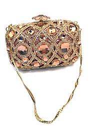 Недорогие -Жен. Мешки Металл Вечерняя сумочка Кристаллы для Свадьба / Для праздника / вечеринки Цвет шампанского