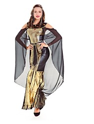 cheap -Cleopatra Cosplay Costume Masquerade Women's Halloween Festival / Holiday Halloween Costumes Golden Fashion Ancient Egypt