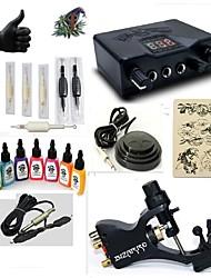 starter tattoo kits 1 rotary machine liner & shader LED power supply 5 x tattoo needle RL 3 Complete Kit