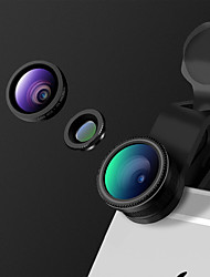Heyang smartphone camera lenzen 0,65x brede hoek lens 10x macro lens vis oog lens voor ipad iphone huawei xiaomi samsung