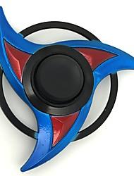 Fidget Spinner Inspirado por Naruto Sasuke Uchiha Animé Accesorios de Cosplay Aleación de zinc